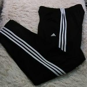 Adidas track pants men XL tall black 3 stripes